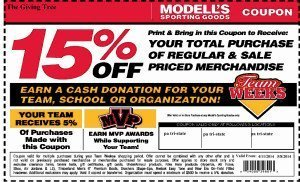 Modells 2014 team week coupon