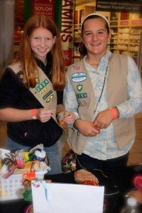 Girl Scouts lending a hand...