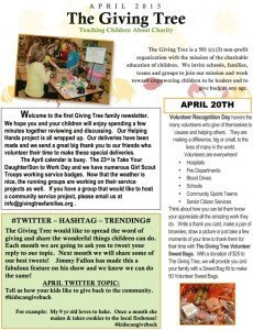 Giving Tree Families April 2015 Newsletter