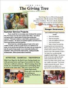 The Giving Tree June 2015 Newsletter